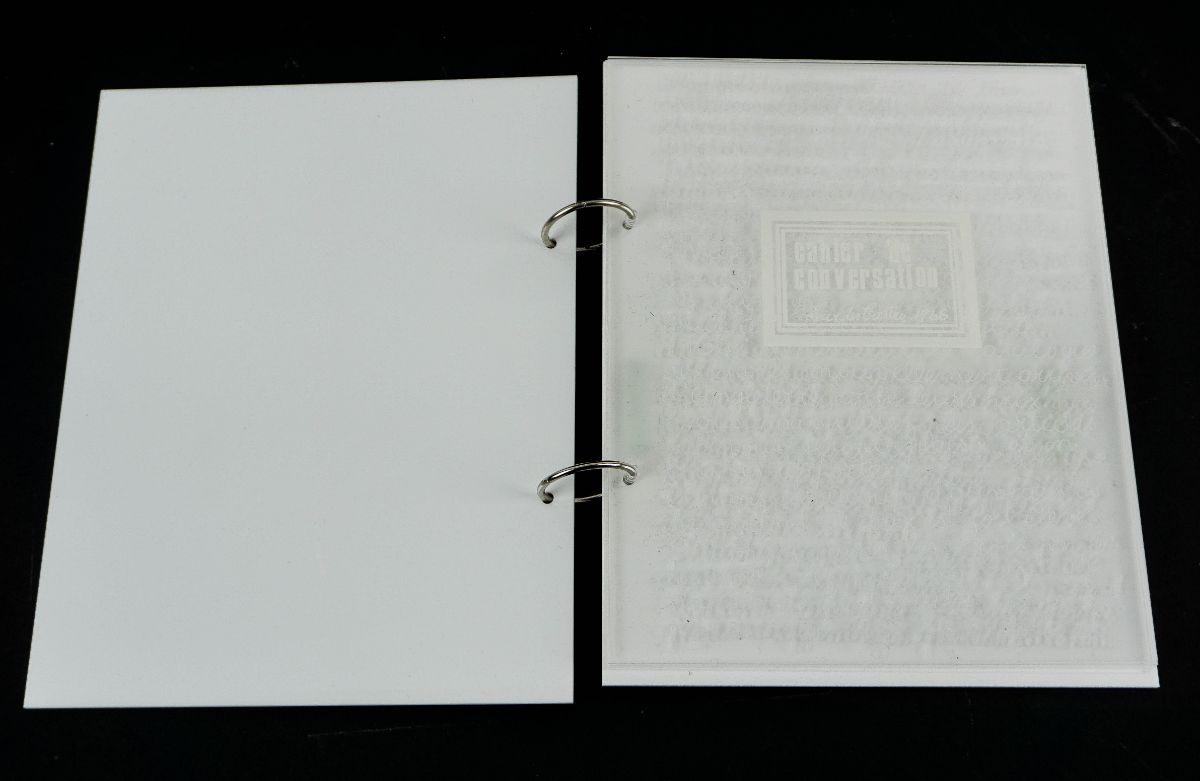 Lourdes de Castro – Livro de artista Plexiglas