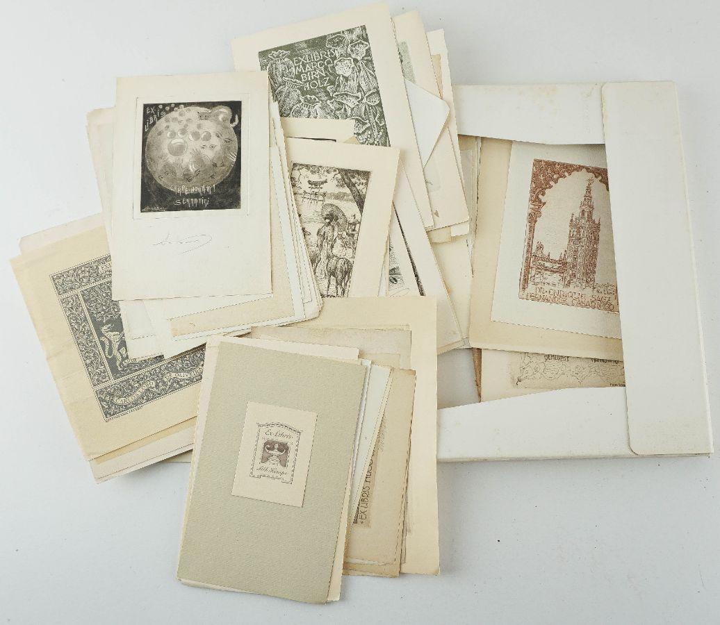 Colecção de Gravuras de Ex Libris anos 40/60