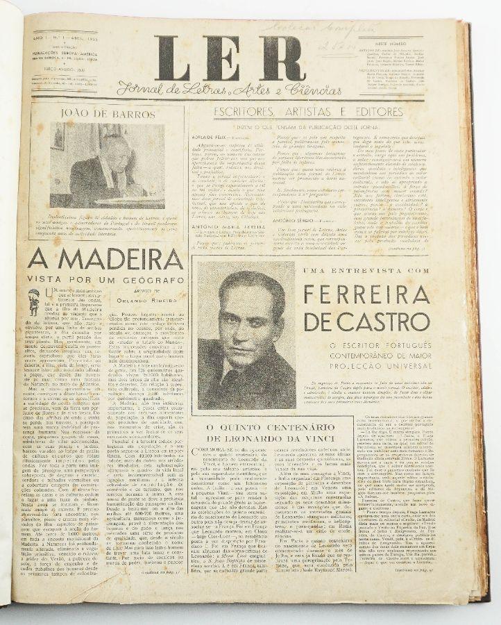 Ler : jornal de letras, artes e ciências / Publicações Europa-América
