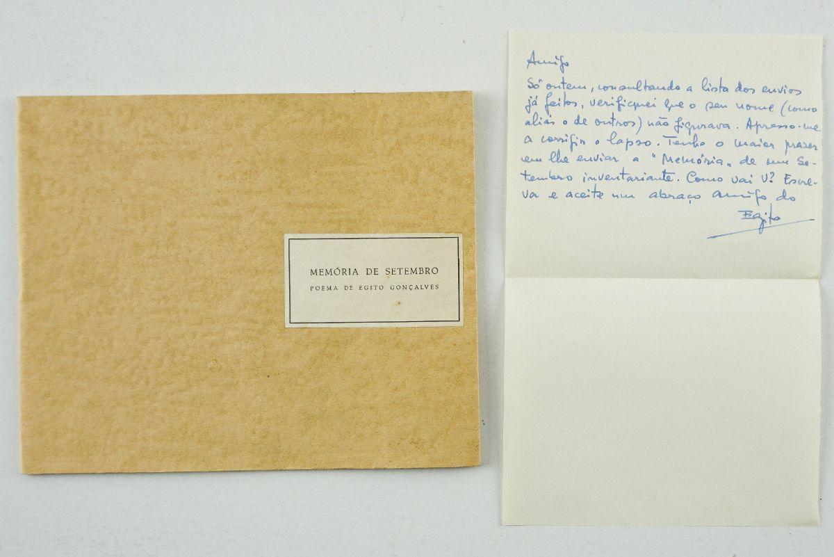Egito Gonçalves – com dedicatória e manuscrito