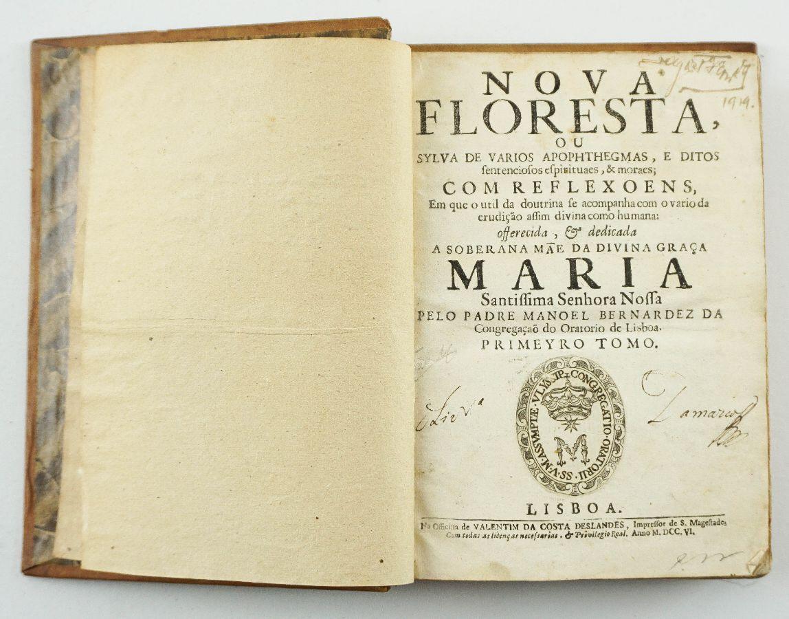 Padre Manuel Bernardes – Nova Floresta (1706 - 1728)