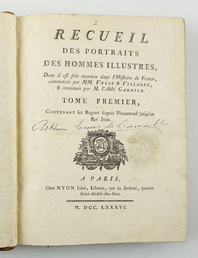 Recueil des Portraits des Hommes Ilustres (1781-1786)