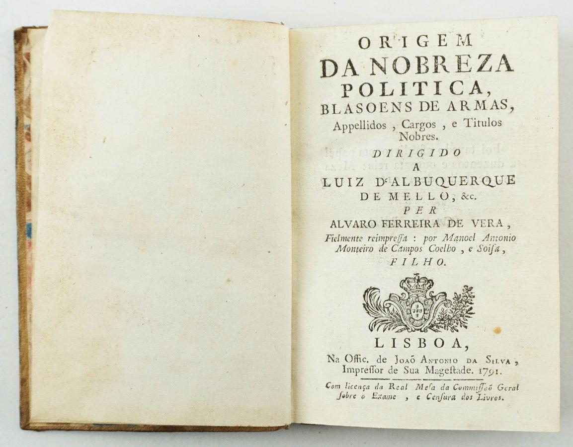 Origem da Nobreza Política (1791)