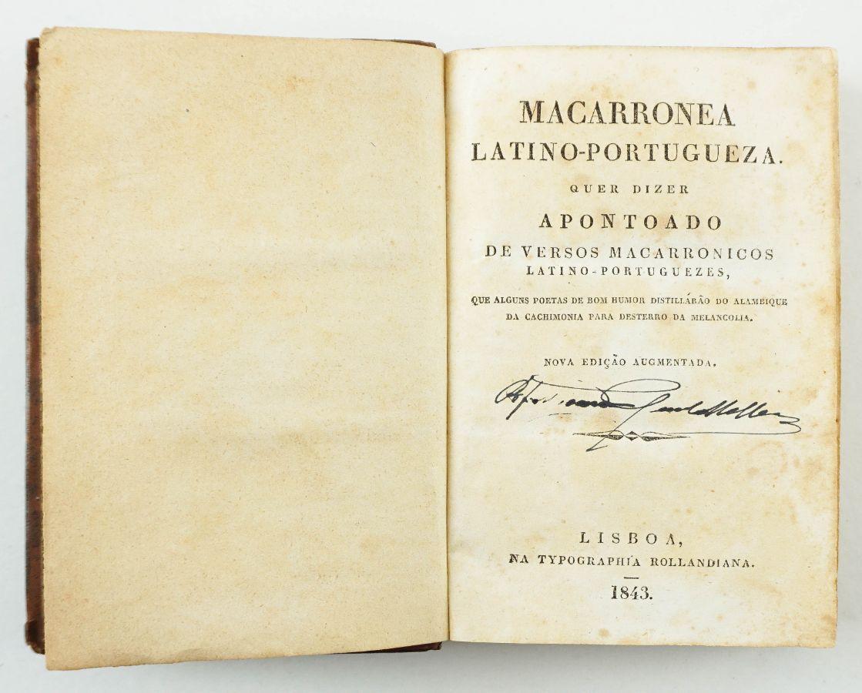 Macarronea Latino-Portugueza (1843)
