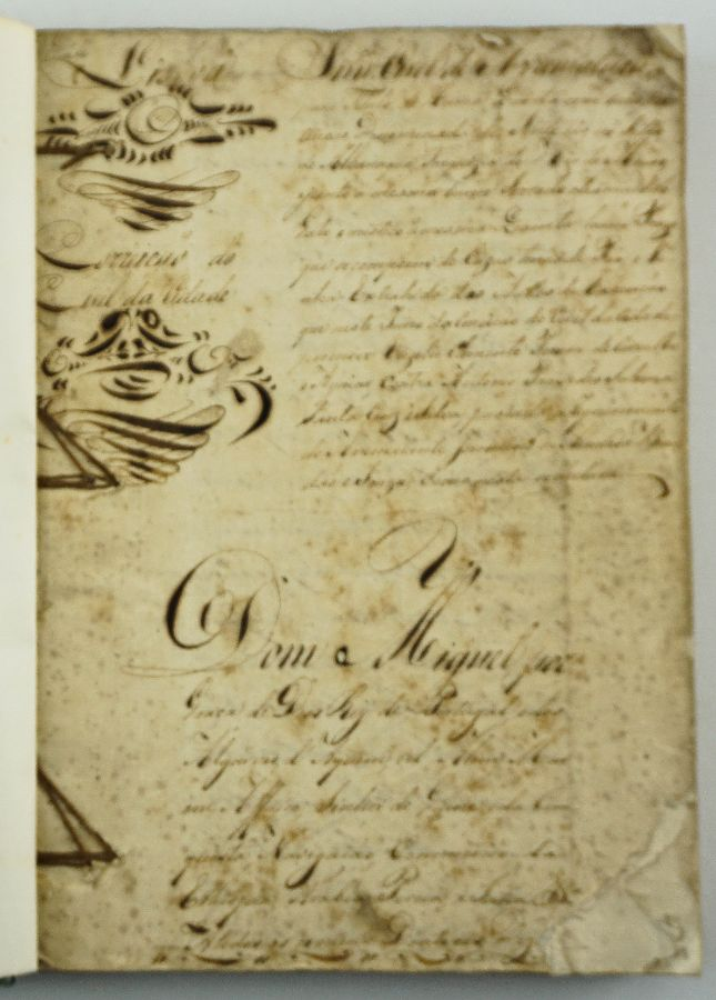 Manuscrito - D. Miguel I