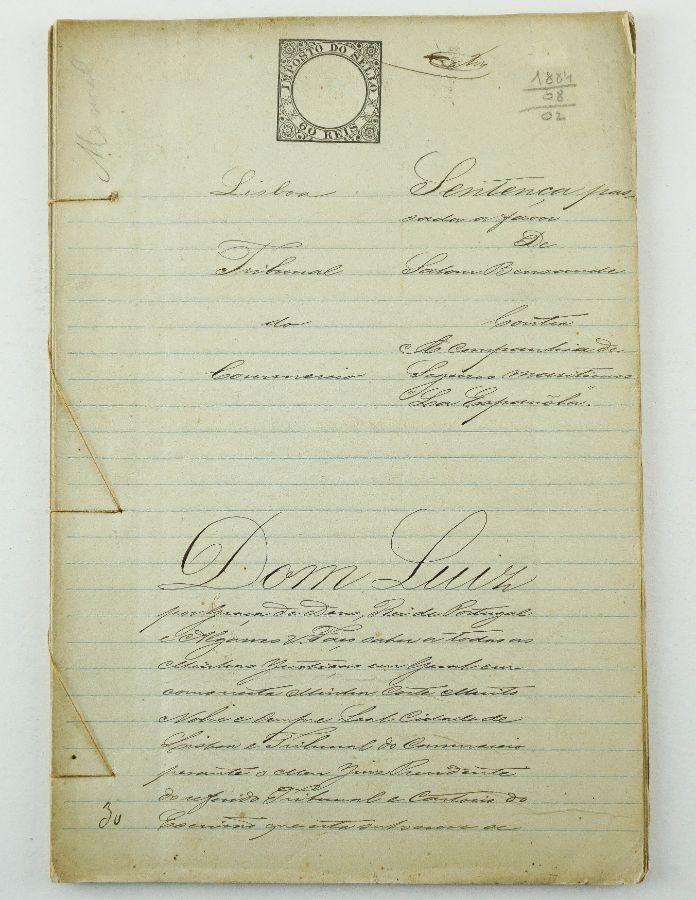Manuscrito D. Luís I (1884)