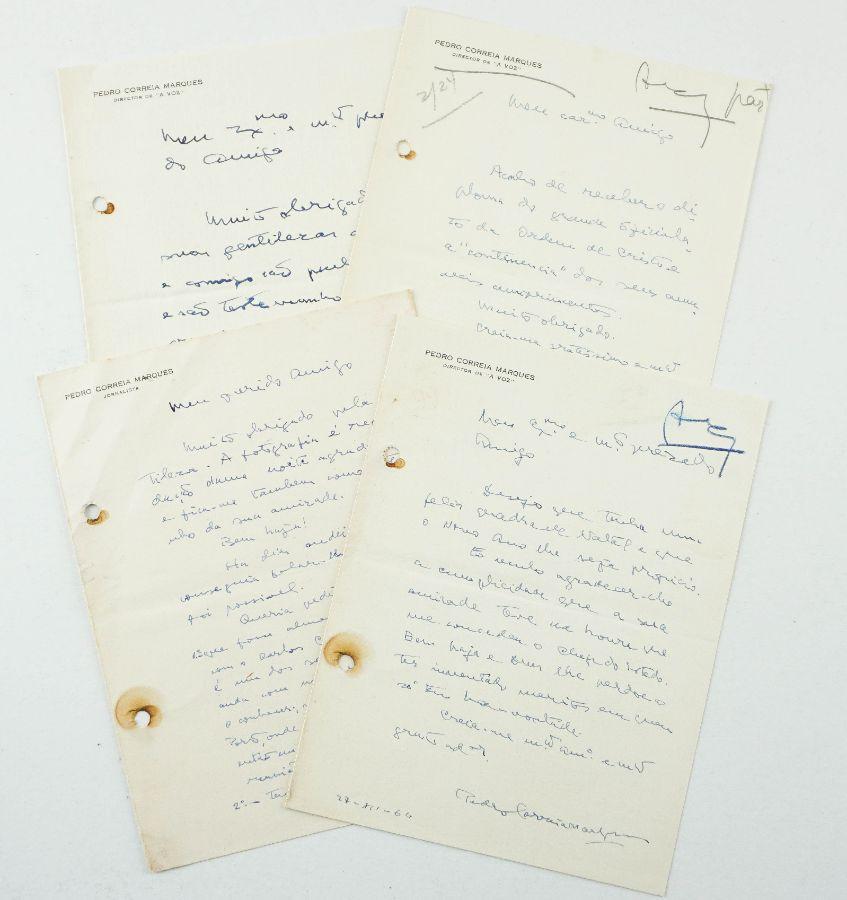 Conjunto de cartas manuscritas para Pedro Correia Marques