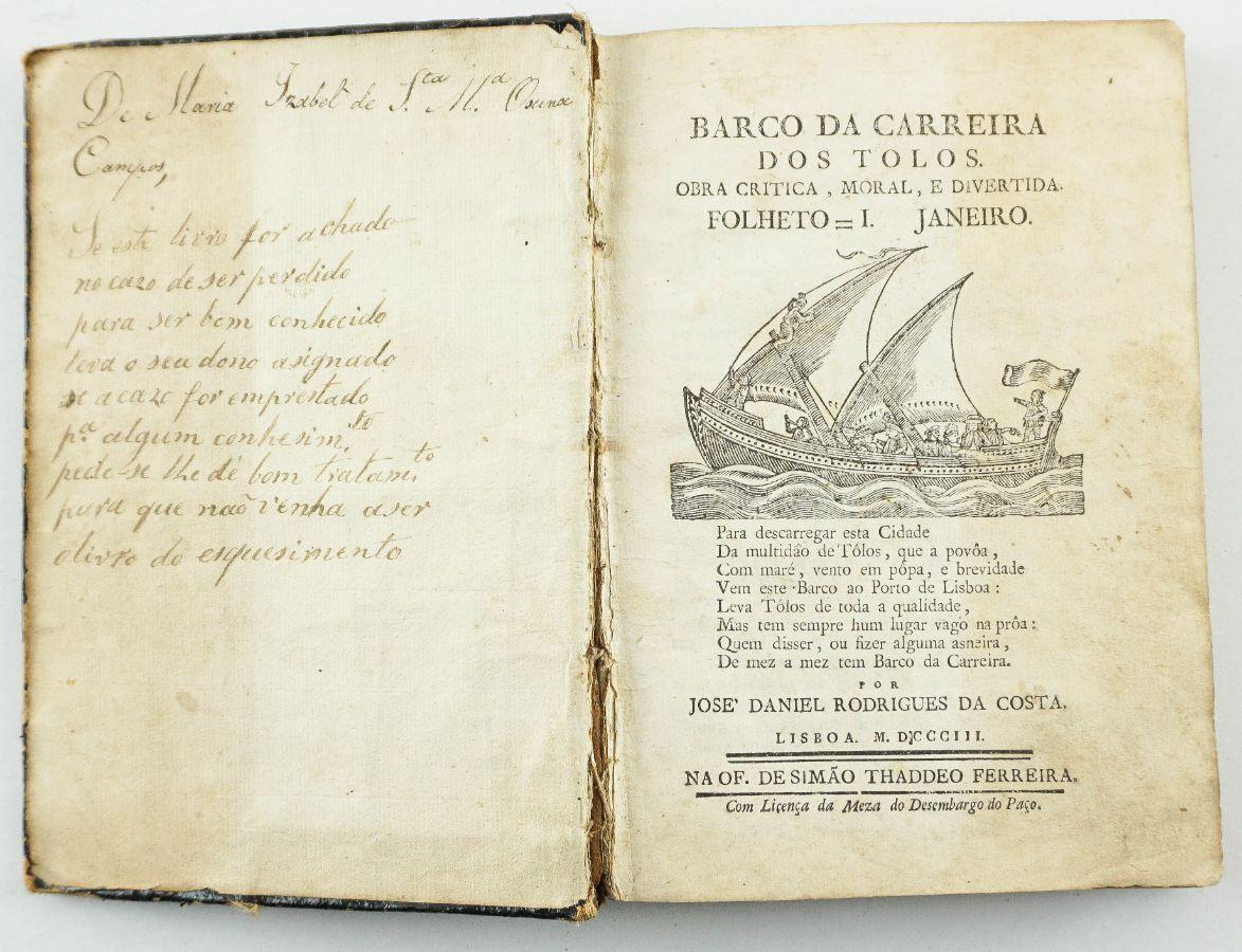 Barco da Carreira dos Tolos (1803)
