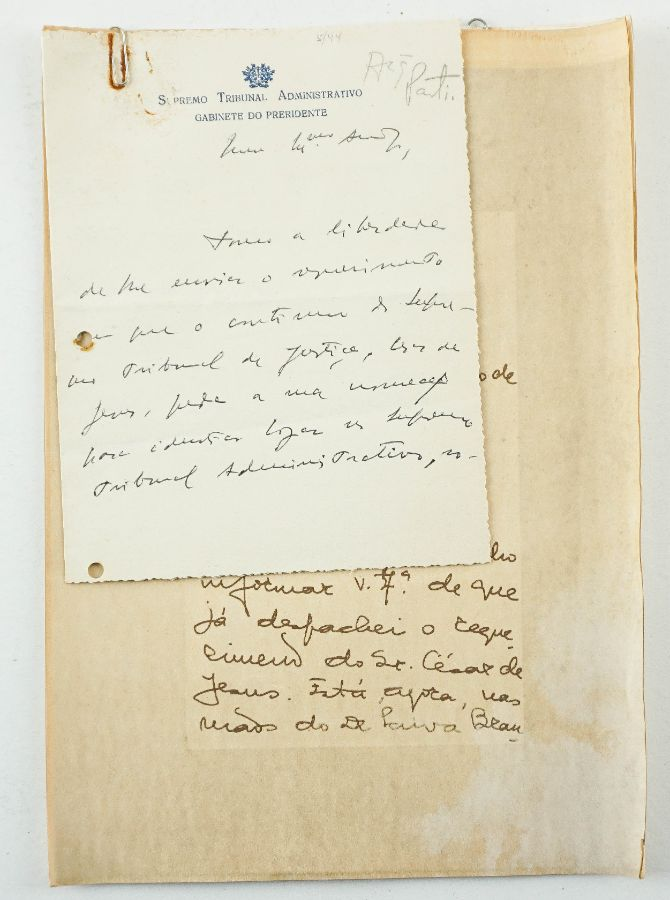 Conjunto de 2 Manuscritos de Joaquim Trigo Negreiros