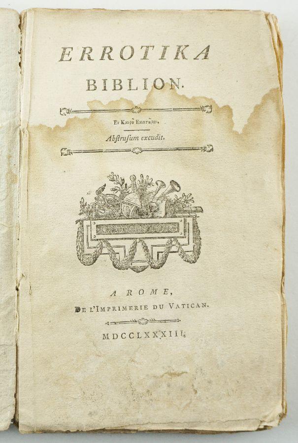 Errotika Biblion - 1ª Edição