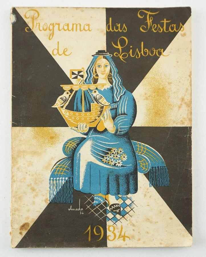 ALMADA NEGREIROS - PROGRAMA DAS FESTAS DE LISBOA. 1934.