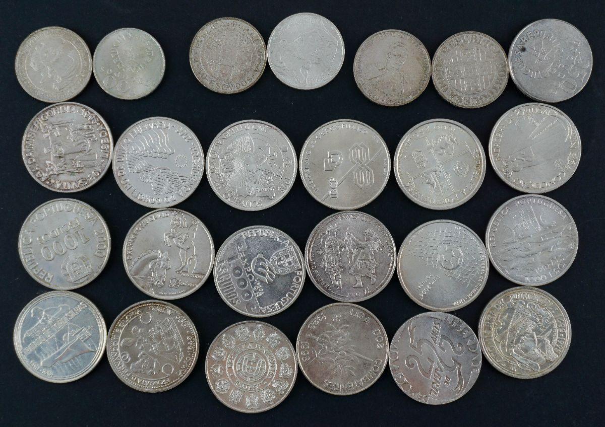 25 Moedas Portuguesas em Prata