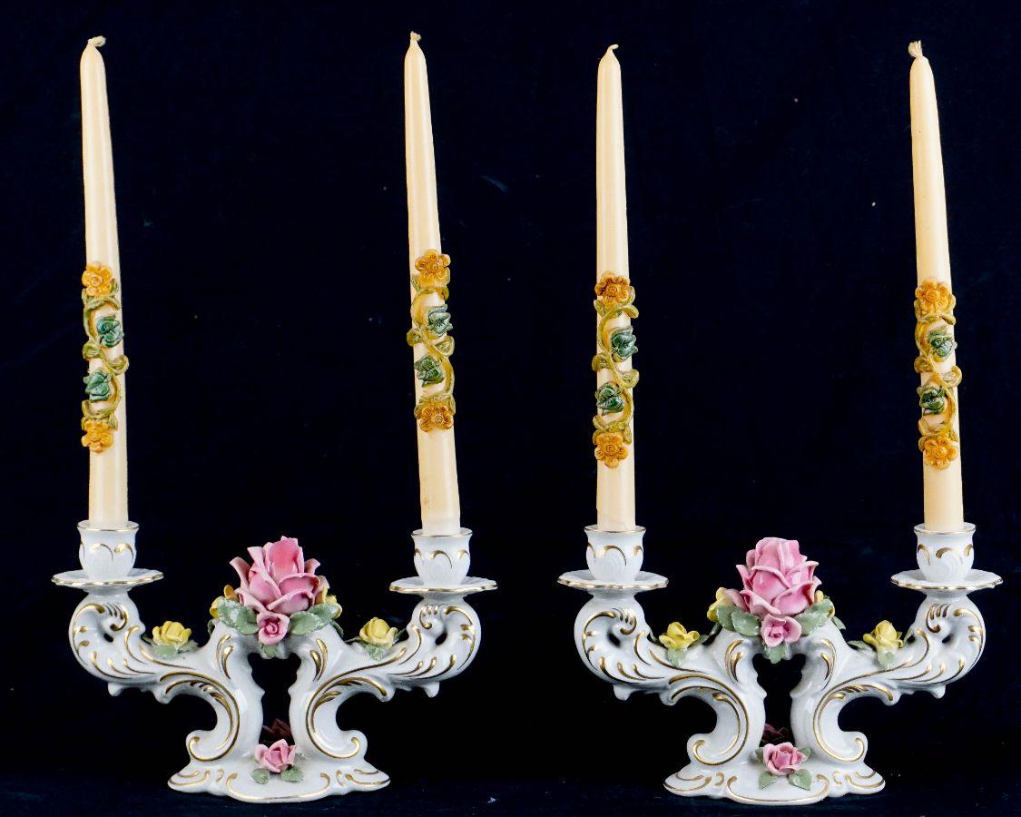 Espelho com 2 candelabros (de 2 lumes)