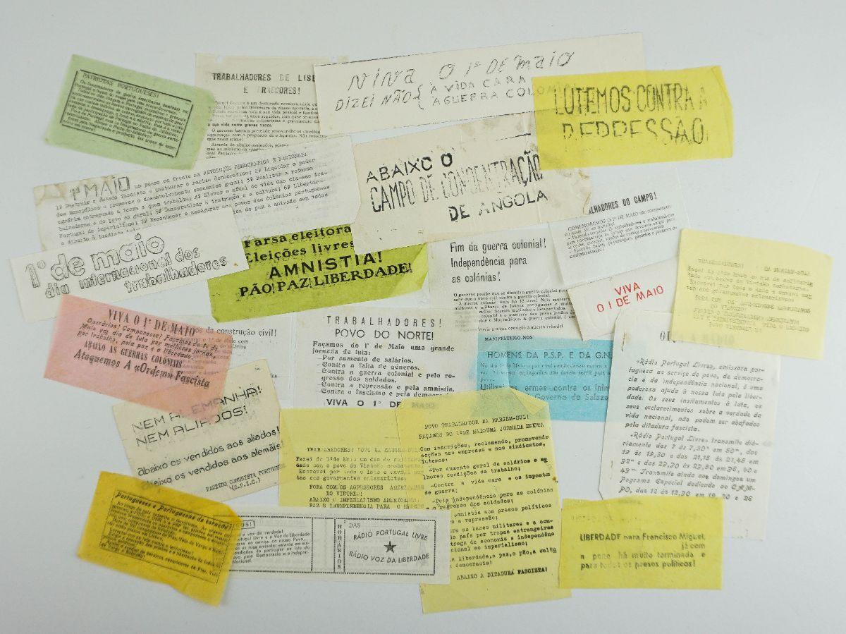 Tarjetas de propaganda clandestina do Partido Comunista Português