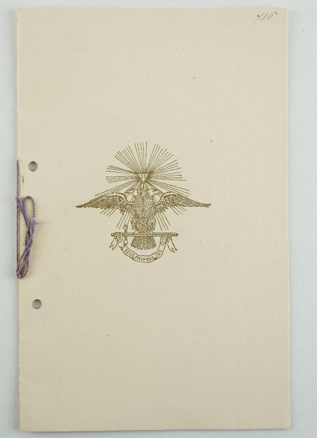 Maçonaria – Supremo Conselho do Rito Escocês (1917)