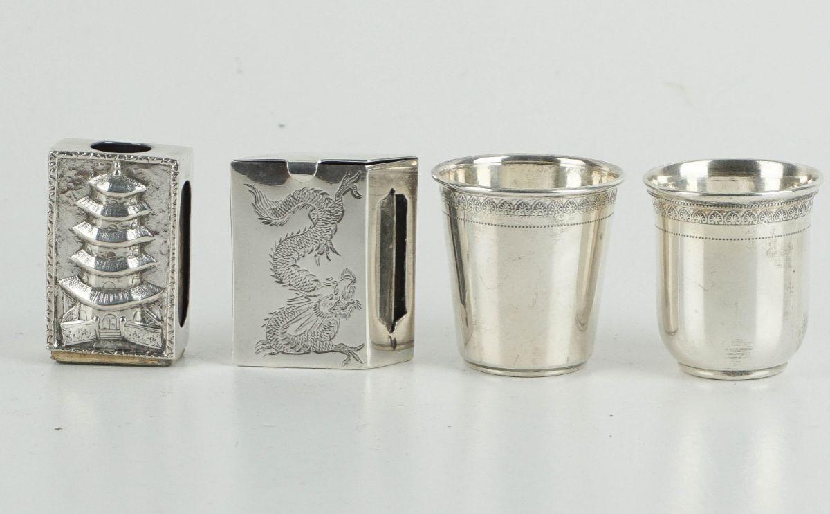 5 Peças diversas em prata