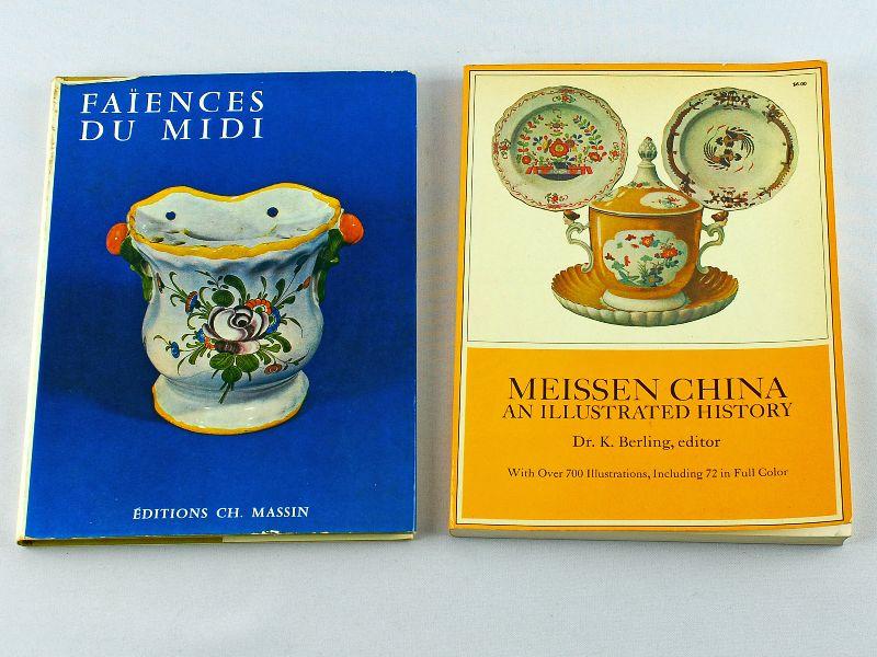 2 Livros sobre Faiança e Porcelana