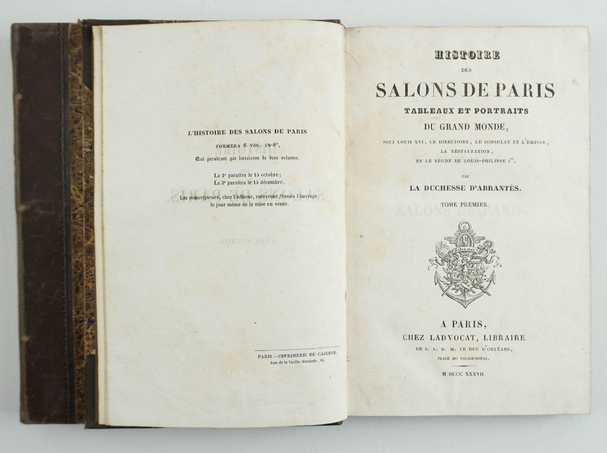 Duchesse d'Abrantés – HISTOIRE DES SALONS DE PARIS
