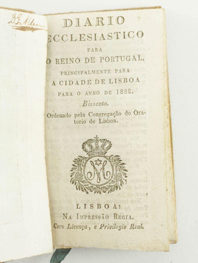 DIÁRIO ECCLESIASTICO PARA O REINO DE PORTUGAL