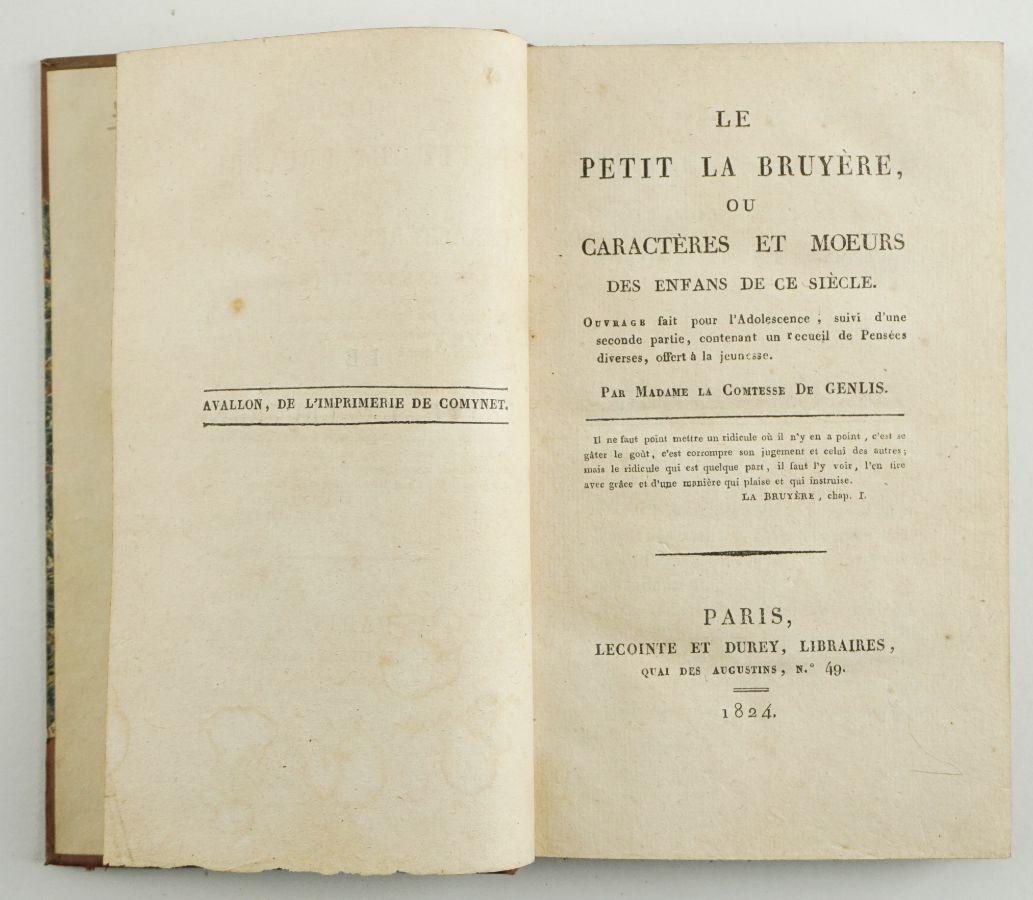 Comtesse de Genlis – LE PETIT LA BRUYÉRE