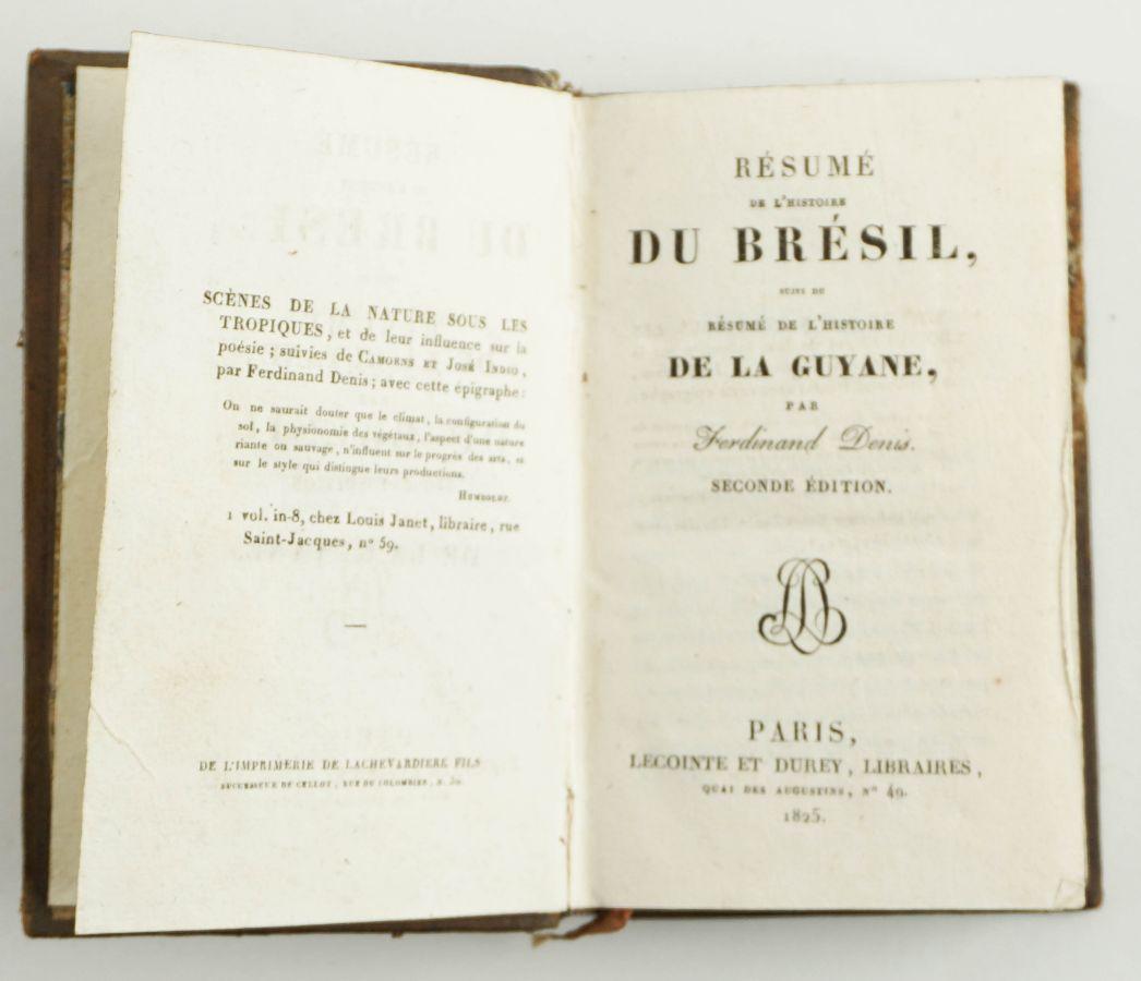 Ferdinand Denis – RÉSUMÉ DE L'HISTOIRE DU BRÉSIL