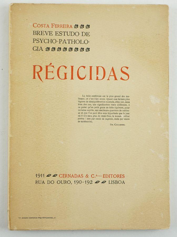 Raro estudo sobre os regicidas (1911)