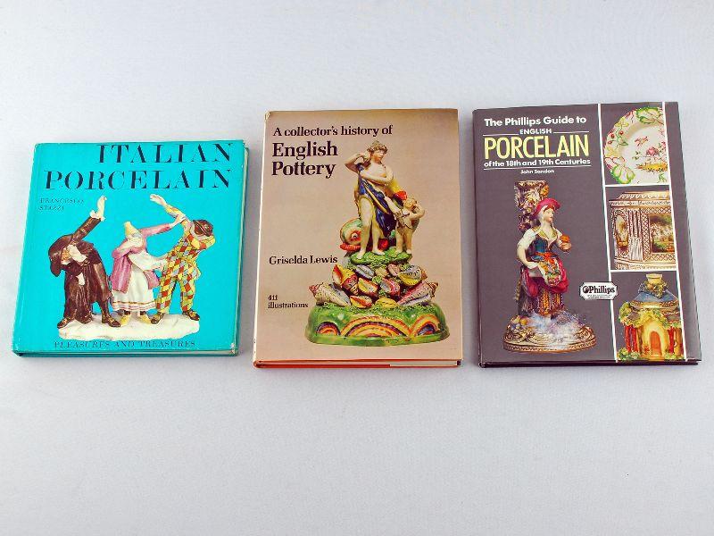 3 Livros sobre Porcelana e Faiança