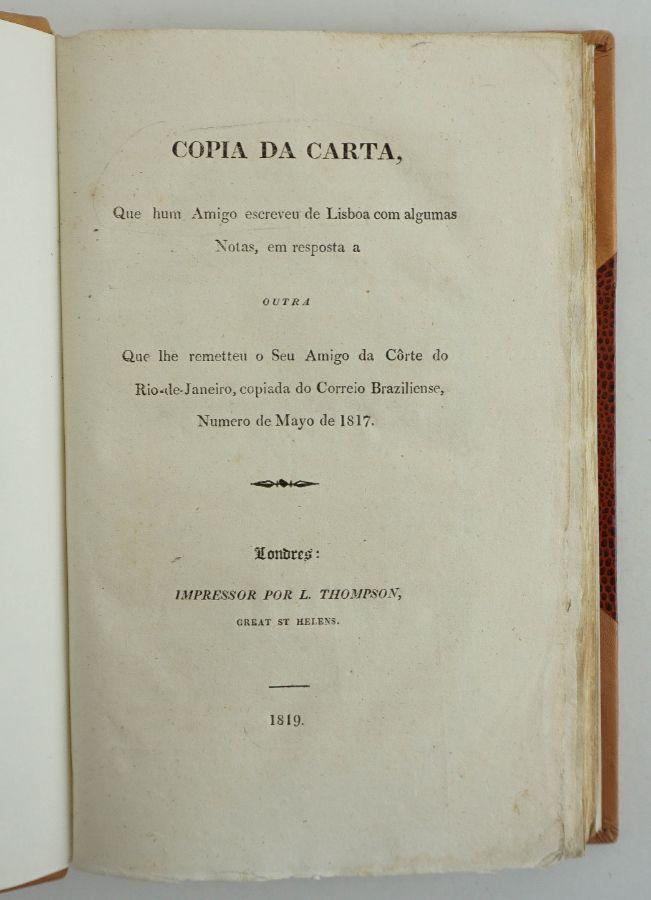 Rara obra do último Inquisidor Geral de Portugal (1819)