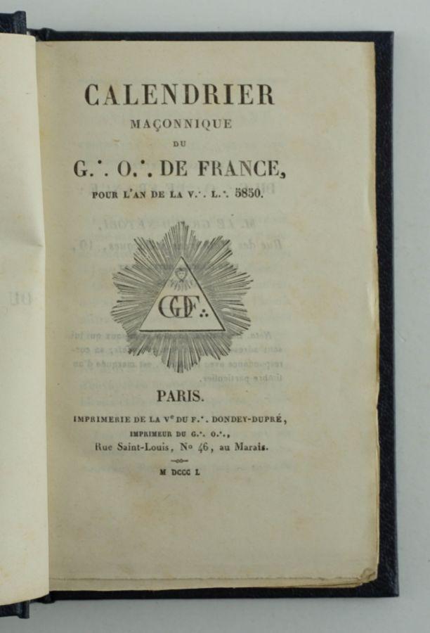 Maçonaria – 1850