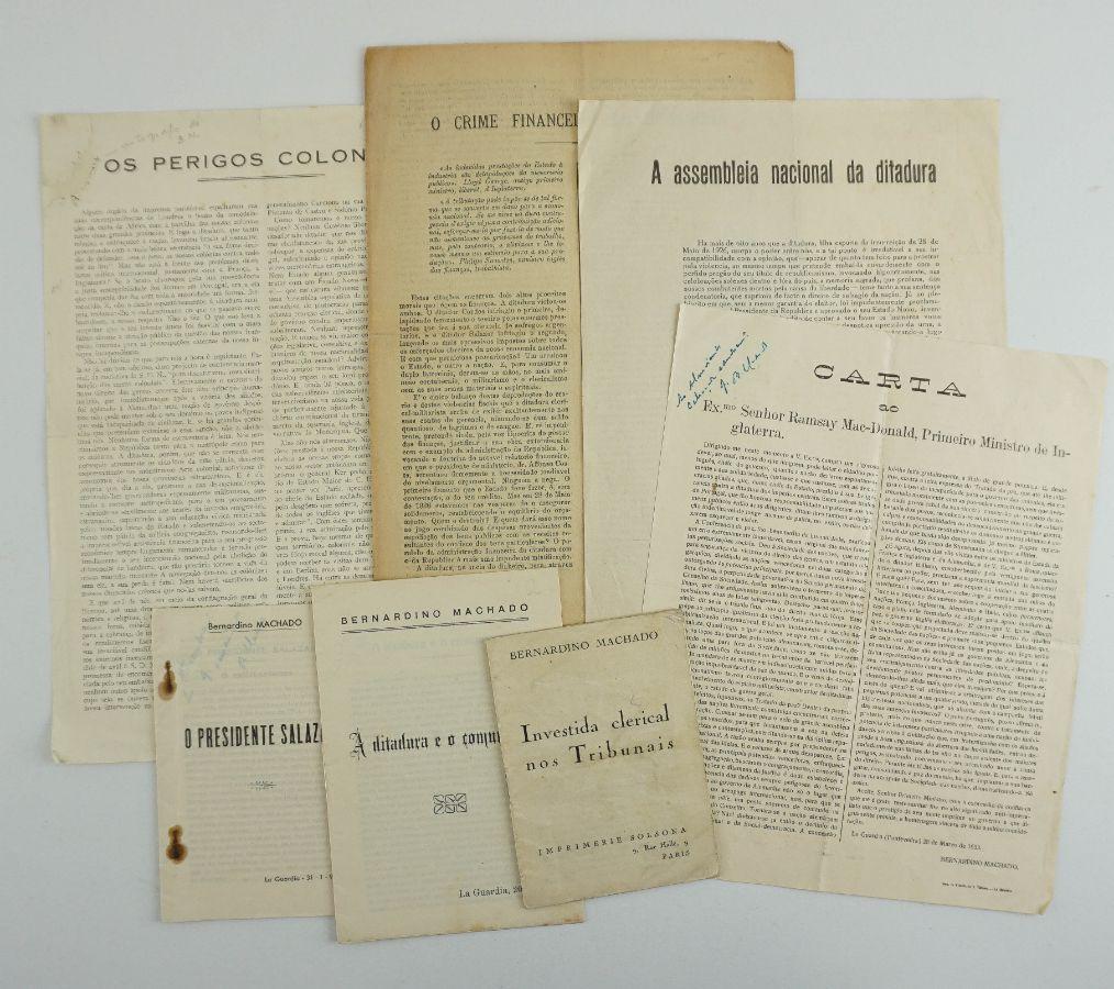 Bernardino Machado – manifestos do exílio
