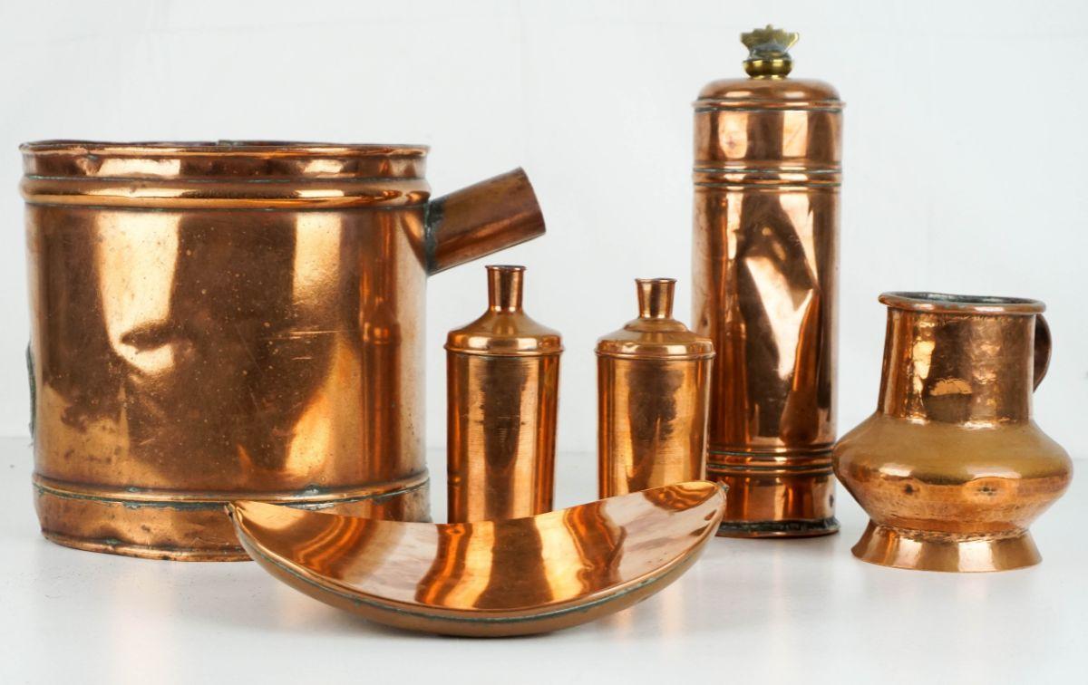 6 Peças em cobre