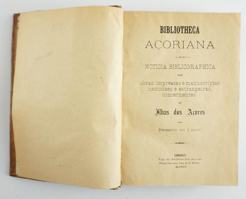 Bibliotheca açoriana