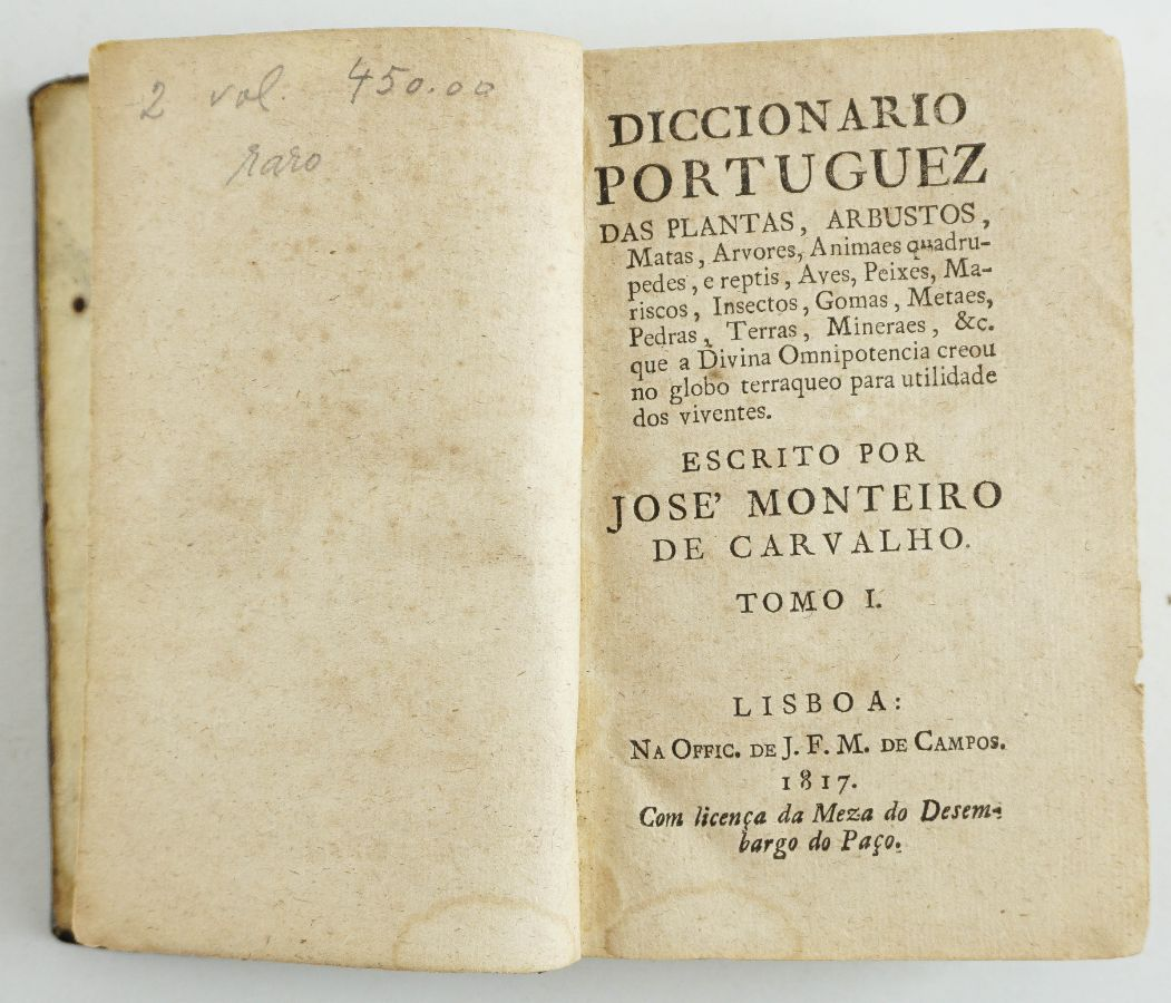 Diccionario portuguez das plantas