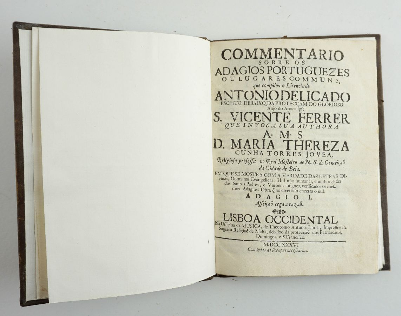 Commentario sobre alguns adagios portuguezes / Antonio Delicado.
