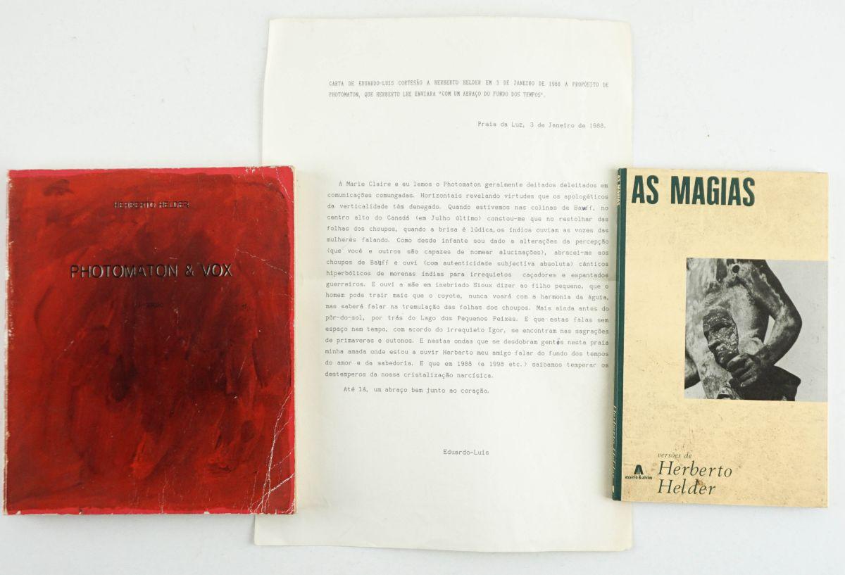 Livros Herberto Helder com dedicatória