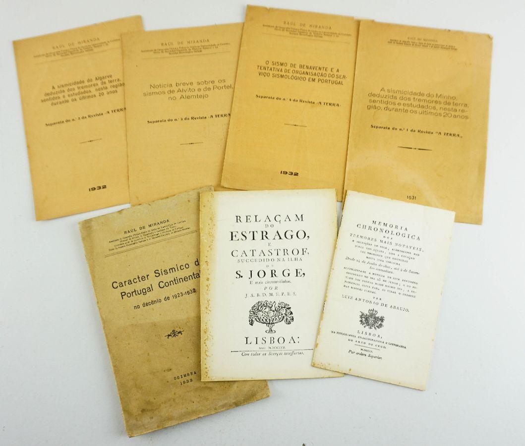 Colecção de publicações sobre sismos e catástrofes em Portugal
