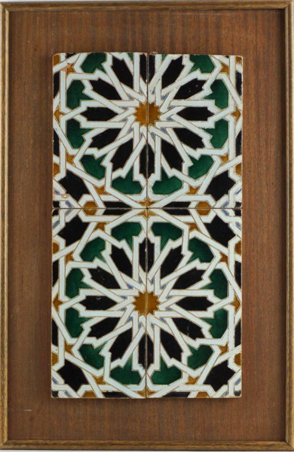 4 Azulejos estilo Hispâno-Árabe