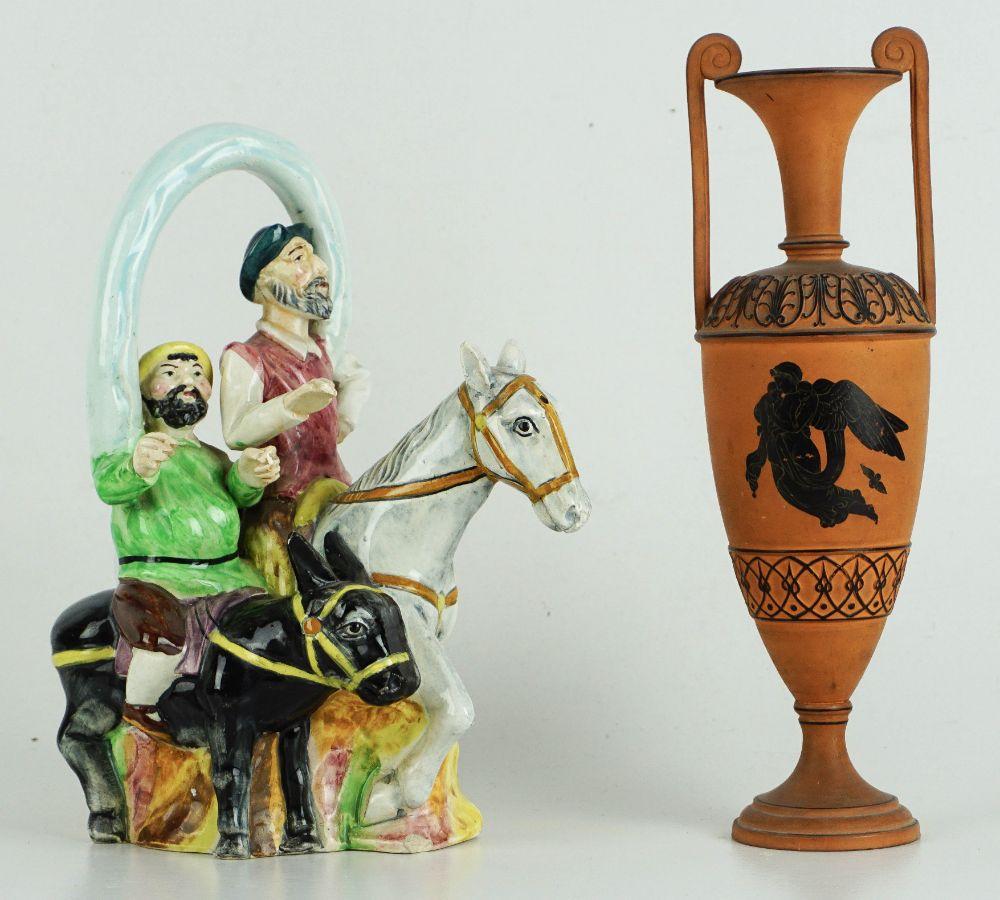 Garrafa com Dom Quixote Sancho Pança