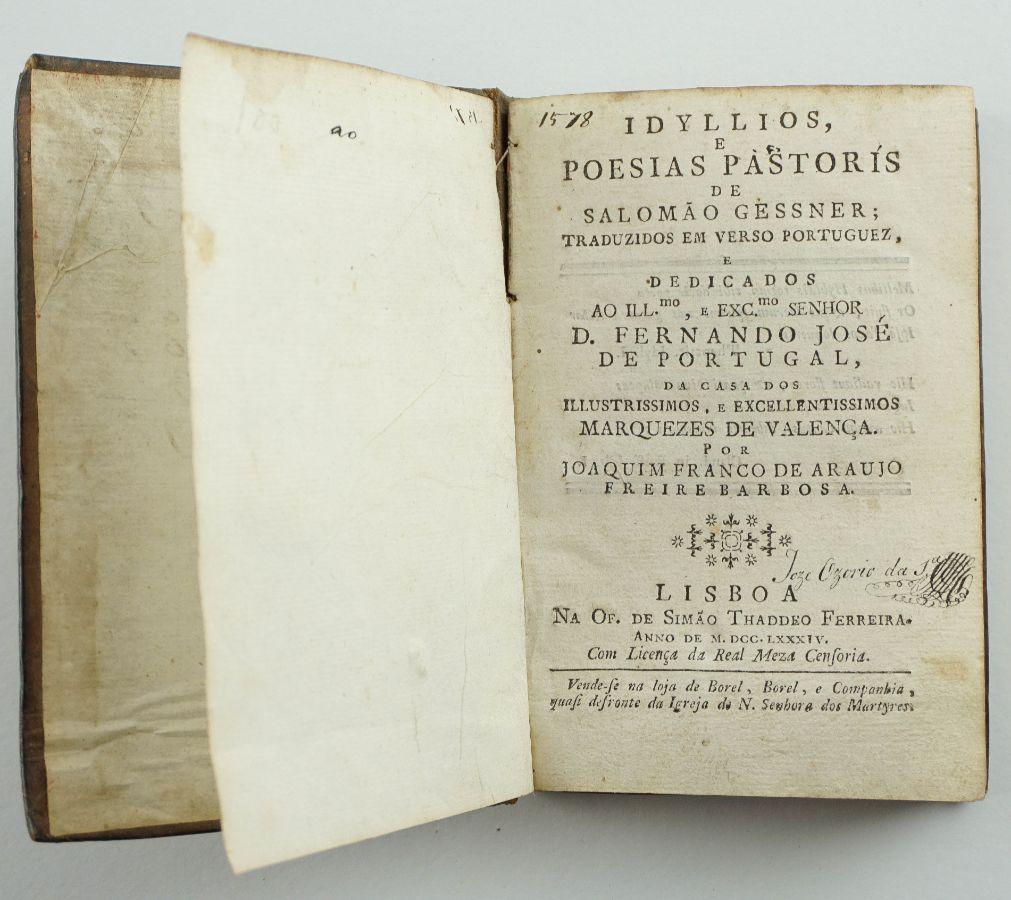 Salomão Gessner – Idylios e Poesias Pastoris (1784)