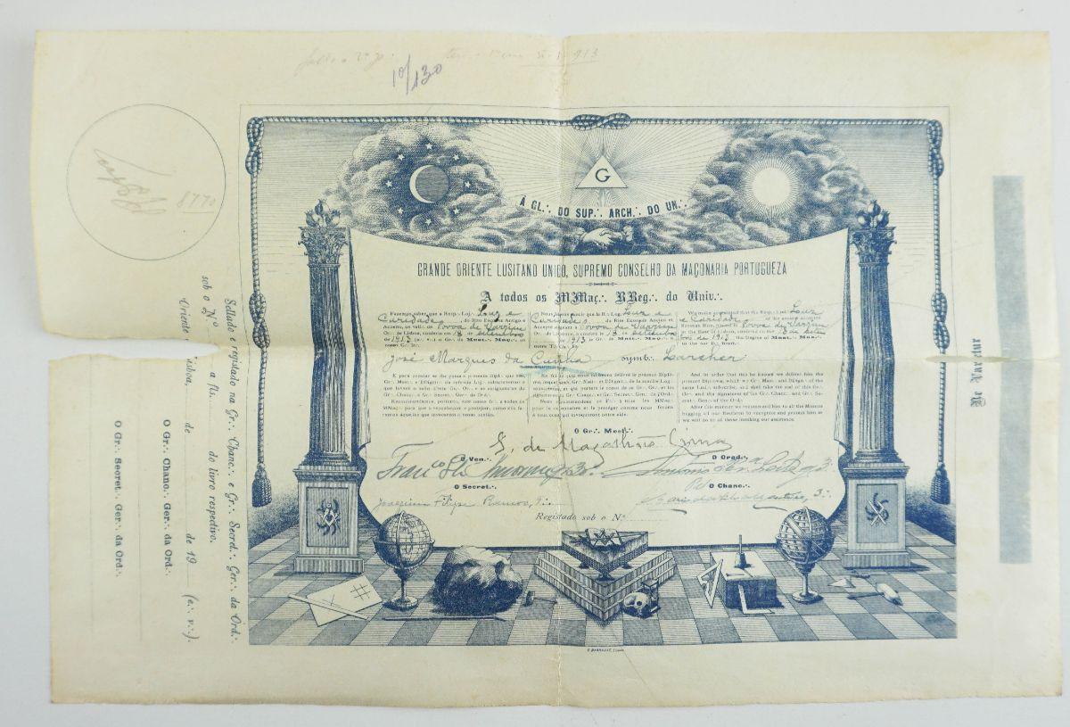 Diploma Maçónico (1913)