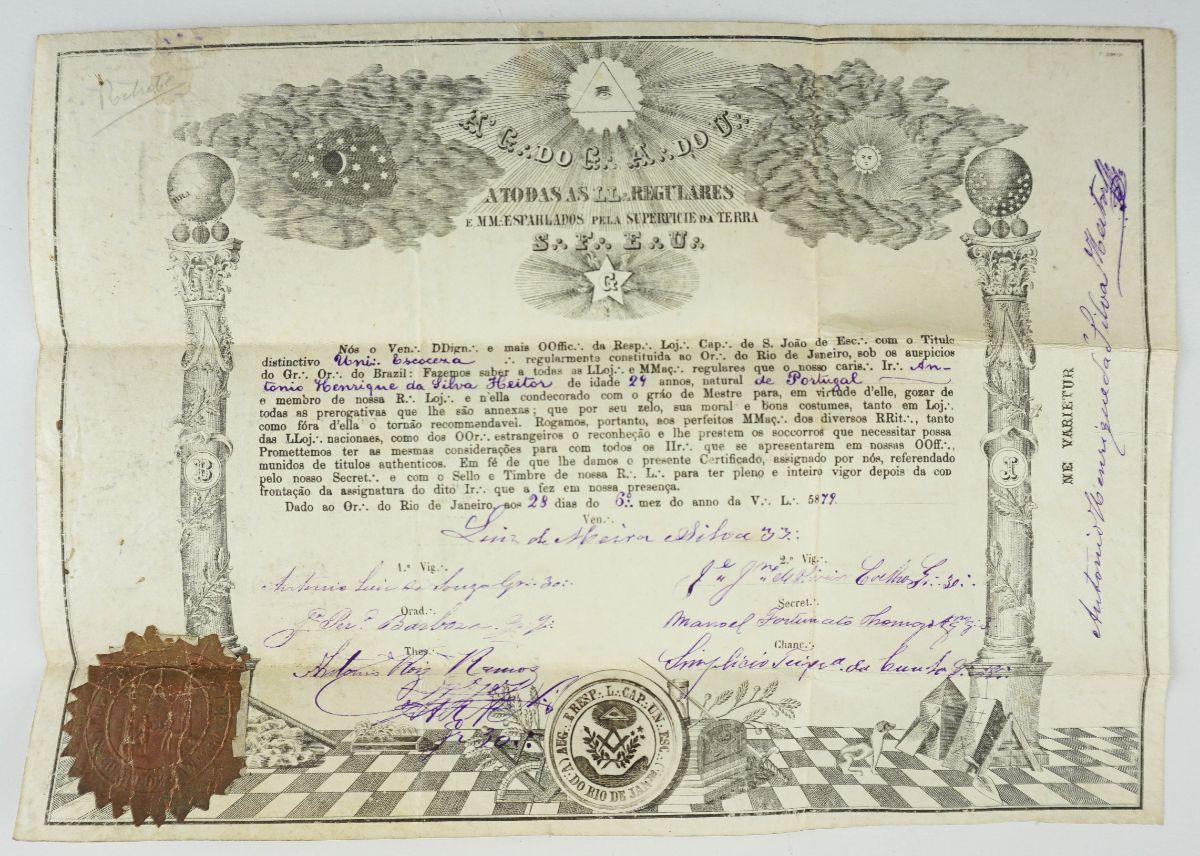 Diploma Maçónico (1879)