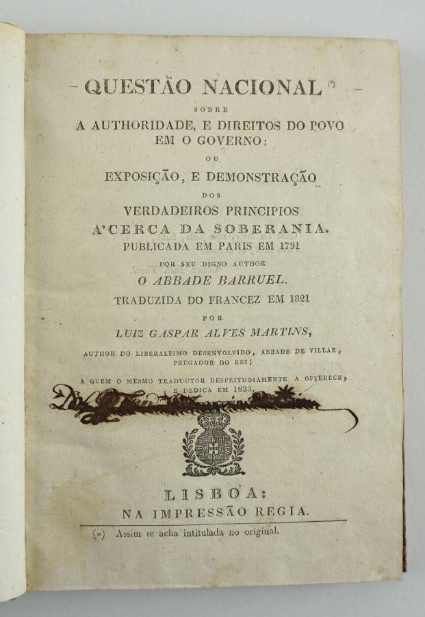 Um clássico do Pensamento contra-revolucionário em Portugal