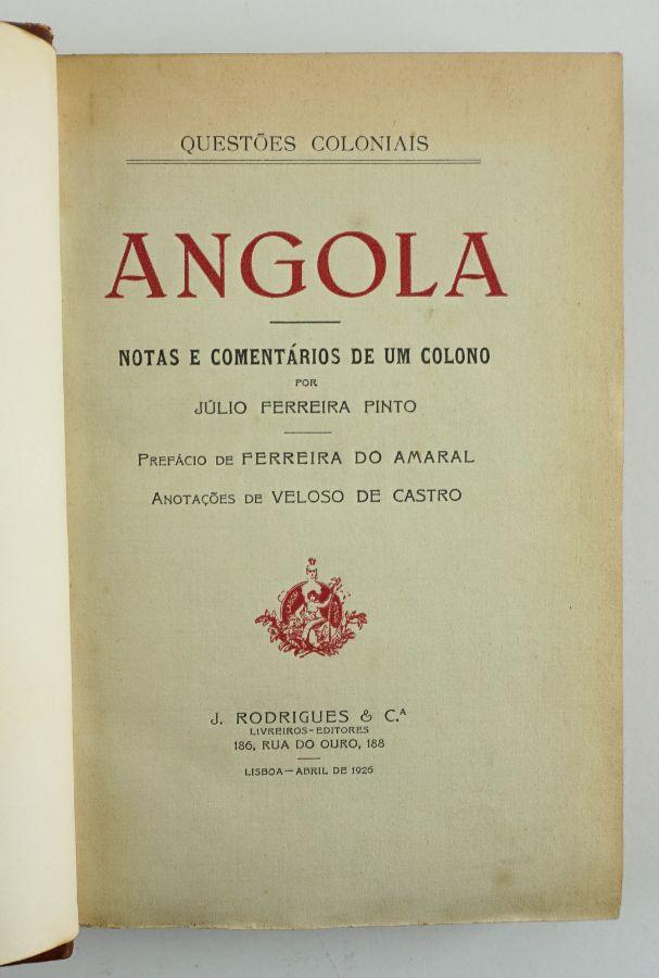 Rara obra sobre Angola (1925)