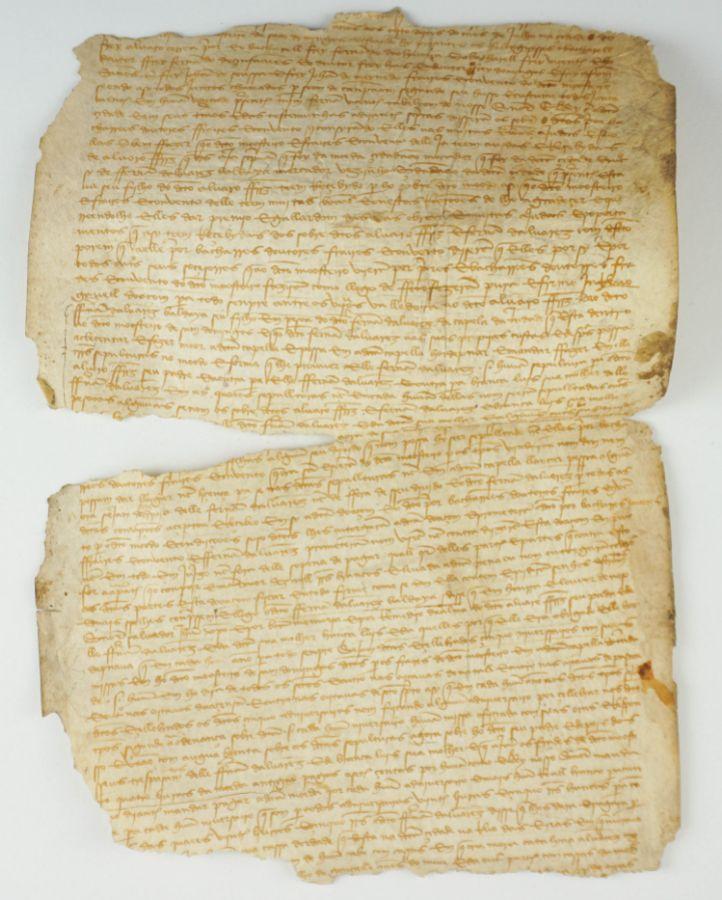 Manuscrito s/ pergaminho 42 cm x 30 cm ( fragmento )