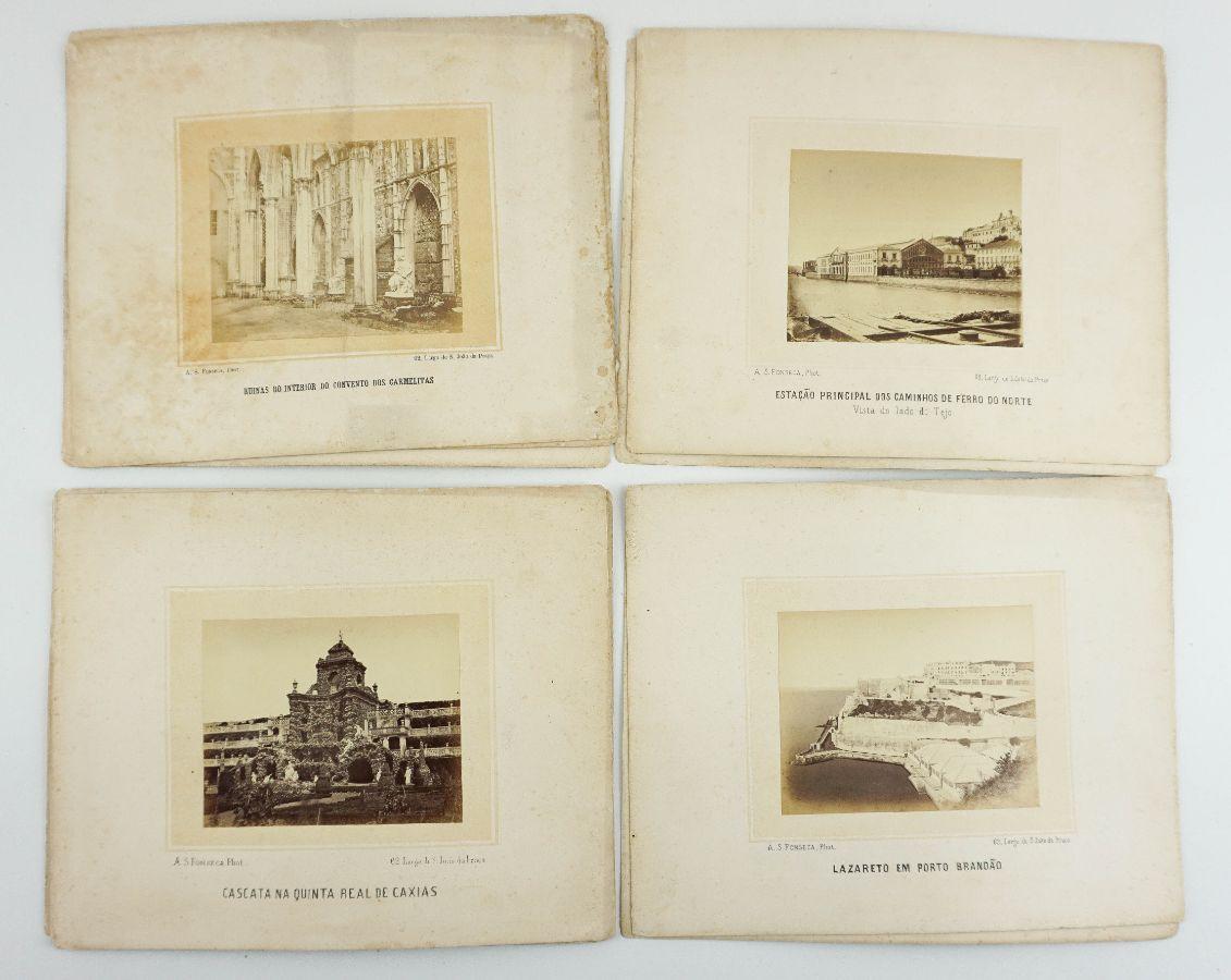 Conjunto de 11 fotografias sobre Lisboa e Palácios Reais