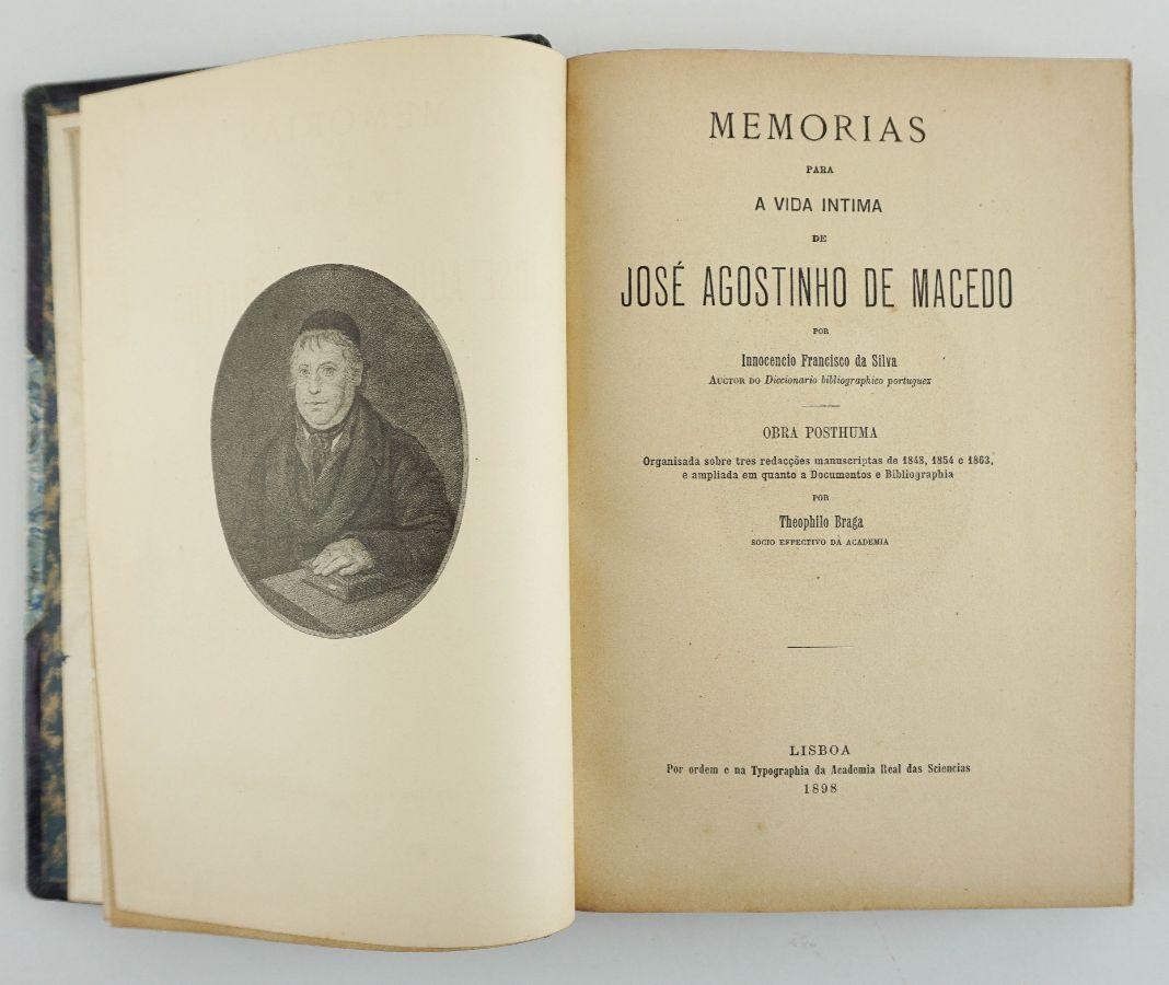 Memorias para A Vida Intima de José Agostinho de Macedo por Innocencio Francisco da Silva