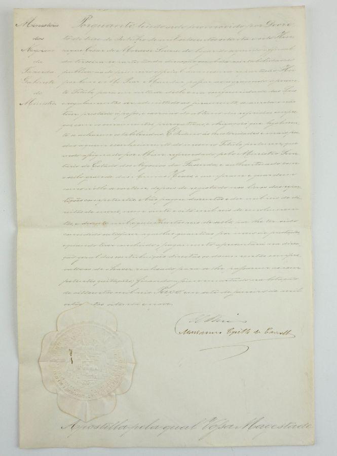 Documento D. Luis I