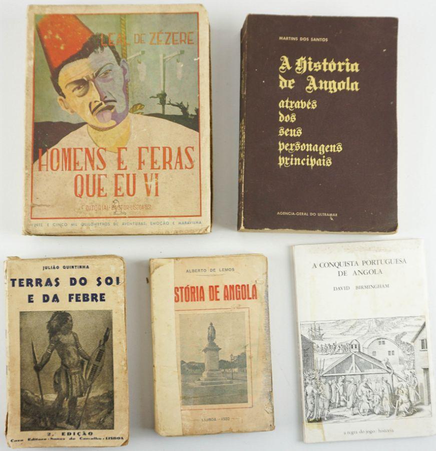 5 livros sobre Angola