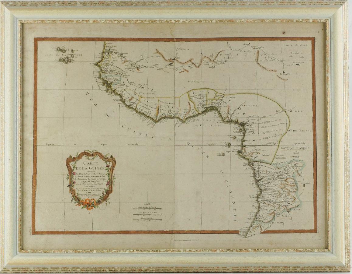 Mapa da Guiné e Ilhas de Cabo Verde