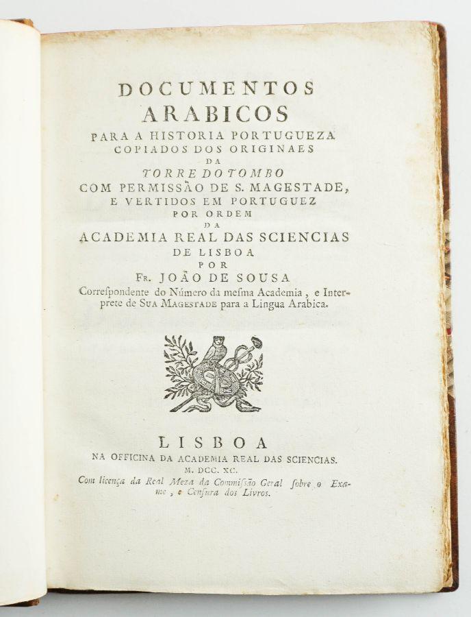 Documentos arábicos para a História Portuguesa (1790)